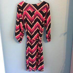 Tacera Dresses - TACERA Dress Zig-Zag Stretch Plus Sz 2X Zip Front